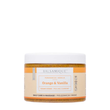 Balsamique peeling cukrowy - pomarańcza i wanilia 450g
