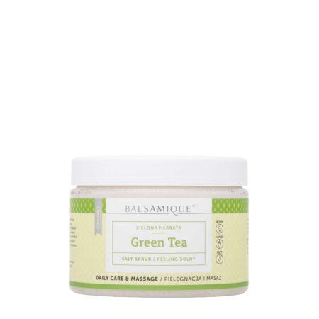 Balsamique peeling solny o zapachu zielonej herbaty 550g