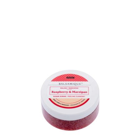 Balsamique peeling cukrowy o zapachu maliny i marcepanu 80g