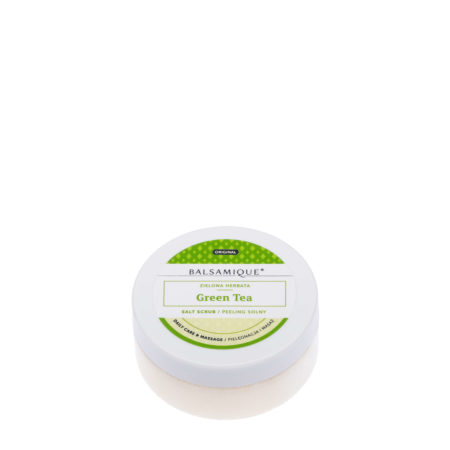 Balsamique peeling solny o zapachu zielonej herbaty 80g