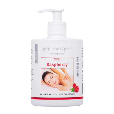 Balsamique oliwka do masażu o zapachu malinowym 500ml